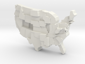 USA by Obesity in White Natural Versatile Plastic