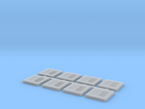 Storm Sewer Grates (HO Scale) in Smooth Fine Detail Plastic