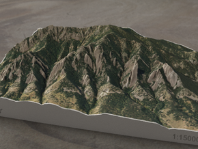 Flatirons, Colorado, USA, 1:15000 in Full Color Sandstone