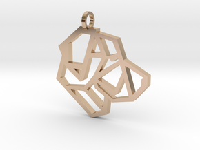 Geometric Labrador Necklace in 14k Rose Gold Plated Brass