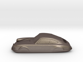 911 Keychain in Polished Bronzed Silver Steel