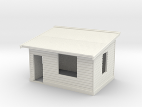 HO NSWGR Platform Signal Box - Left Hand Door in White Natural Versatile Plastic