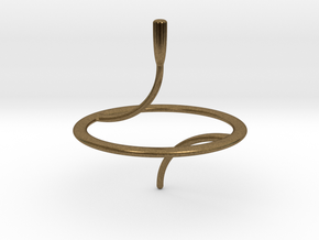 Less Is More Spinning Top (small) in Natural Bronze
