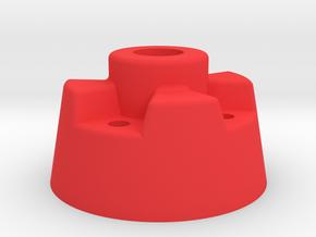 Desktop Base Lamp in Red Processed Versatile Plastic