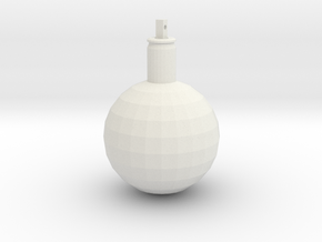 Ball ornament with cartridge case in White Strong & Flexible