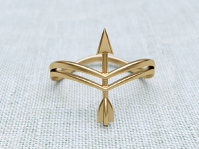 Bow Ring in Natural Brass: 8.5 / 58