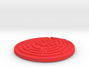 WestWorld maze Pendant in Red Processed Versatile Plastic: Large