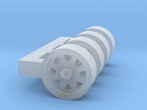 1/87 Wagon wheel style truck wheel X 4 in Smooth Fine Detail Plastic