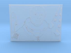 Embossed Image Of Late Astronaut/Senator John Glen in Smooth Fine Detail Plastic