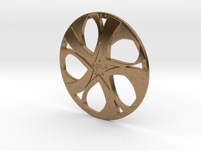 Wheel in Natural Brass