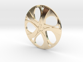 Wheel in 14k Gold Plated Brass