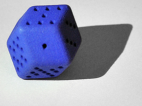 12 sided Dice in Blue Strong & Flexible Polished