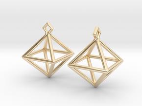 Diamond Earrings #S in 14K Yellow Gold