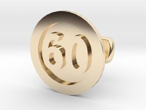 Cufflink 60 in 14k Gold Plated Brass