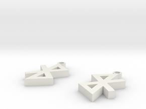 Bluetooth Earrings in White Natural Versatile Plastic