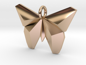 Simple Butterfly Necklace in 14k Rose Gold Plated Brass