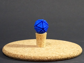 The D20 of Fail in Blue Processed Versatile Plastic