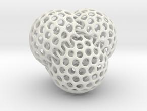 4 intersecting spheres in White Natural Versatile Plastic
