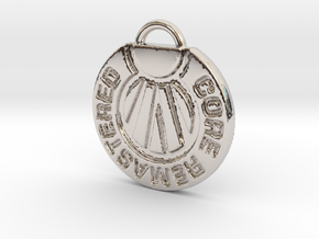 Core Remastered Pendent in Rhodium Plated Brass
