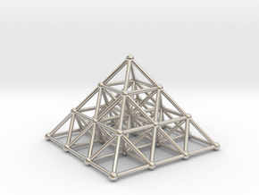 Pyramid Matrix - 3x3 Grid in Rhodium Plated Brass