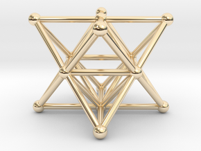 Merkaba - Star tetrahedron in 14k Gold Plated Brass