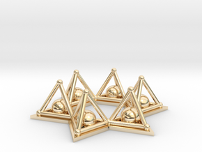 Crystal Merkaba Stargate in 14K Yellow Gold