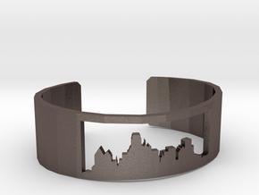 Dallas Skyline Bracelet in Polished Bronzed Silver Steel