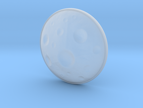 Moon Earring in Smooth Fine Detail Plastic