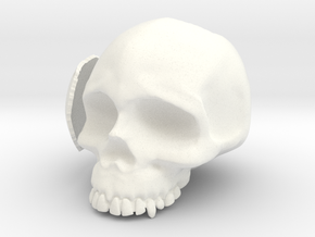 Skull Casing Raspberry Pi 2, No-ports in White Processed Versatile Plastic