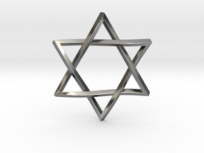 Penrose Star of David in Polished Silver
