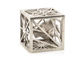 Origami Cubed Bases in Polished Silver