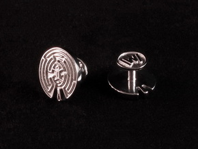 WestWorld Maze Cufflinks in Rhodium Plated Brass