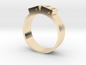 D6 Band in 14K Yellow Gold