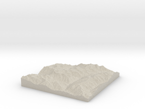 Model of Silver Crown Mine in Sandstone