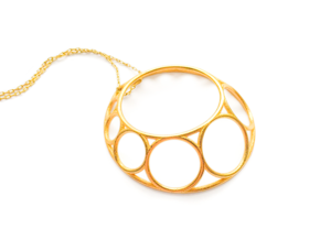 Chain Pendant in Polished Gold Steel