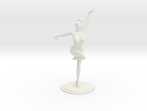 Lowpoly Ballet Girl 20CM in White Natural Versatile Plastic: Large