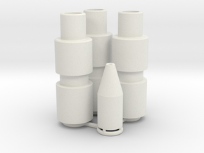 Knee Darts Set in White Natural Versatile Plastic