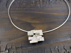 Cubic Pendant small in Polished Nickel Steel