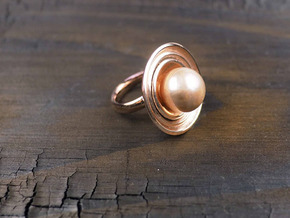 Ring for a Pearl with bowls in 14k Rose Gold Plated