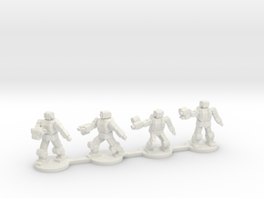 Bullsnake Battle Armor Squad in White Natural Versatile Plastic