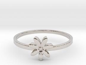 Flower  in Rhodium Plated Brass: 4 / 46.5