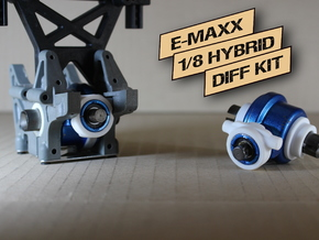 E/T-MAXX 1/8 Hybrid Differentials  KIT (Rear) in White Strong & Flexible Polished