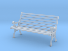 Park Bench 1:20 Scale in Smooth Fine Detail Plastic
