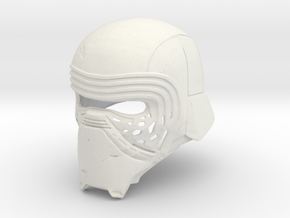 Kylo Ren Helmet (damaged) in White Natural Versatile Plastic