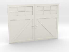 1:24 Scale Settlers Garage Door in White Natural Versatile Plastic