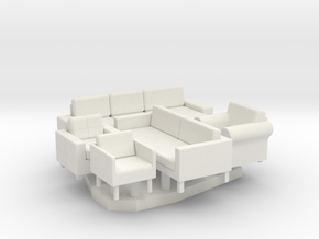 Furniture Group - HO 87:1 Scale in White Strong & Flexible