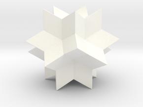 RHOMBIC HEXECONTAHEDRON in White Processed Versatile Plastic