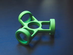 The Fusion - Fidget Spinner in Green Strong & Flexible Polished