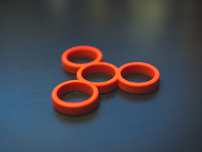 The Absolute - Fidget Spinner in Red Processed Versatile Plastic