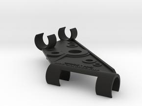 20mm DIN Stereo Mic Clip v3 in Black Strong & Flexible
